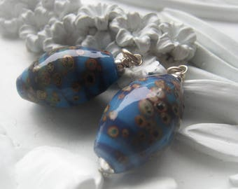 Lampwork Glass Egg Pendant Sterling Silver Pendant Item No. 1947 2963