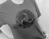 Celtic Triple Raven Crow Bird Gothic Pagan Unisex Grey T-Shirt S M L XL XXL