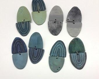 Wearable art earrings, contemporary jewelry,