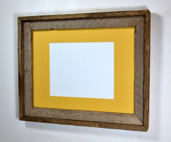 12x16 Frame From Recycled Wood With Beautiful Patina Yellow