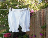 Ready now!  Toddler Bloomers White Cotton Simple Basic No Lace 2T - 4T