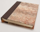 Brown Leather and Marble Journal / Notebook