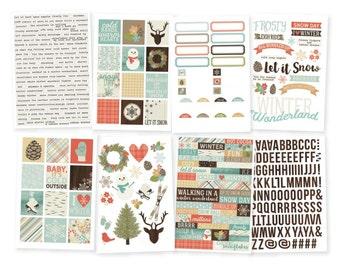 """Winter Wonderland Stickers 4""""X6"""" 8/Pkg • Planner Stickers • Inspiring Sticker (7516)"""