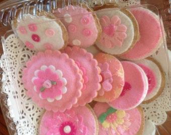 Sugar Cookies and Tea, Felt and Fabric
