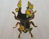 Flower Stag Beetle - Enamel Pin