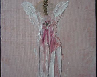 Angel of Protection, Angel Art, 5 x 7, Acrylic, Angel Paintings, Christian Art, Angels