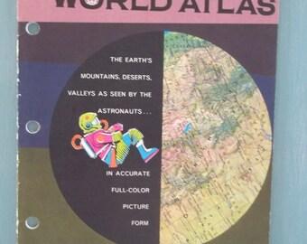 Westlab Space-Age World Atlas - Student Atlas - Looseleaf Notebook Atlas - Vintage World Atlas