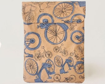 Blue Bicycles iPad & Tablet Paper Sleeve