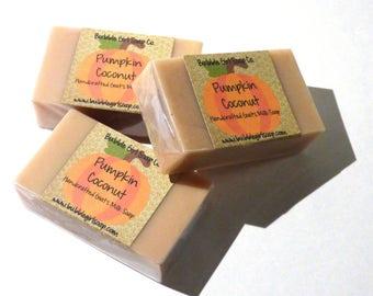 Pumpkin Coconut MINI GUEST Size Goats Milk Soap Bar Handmade