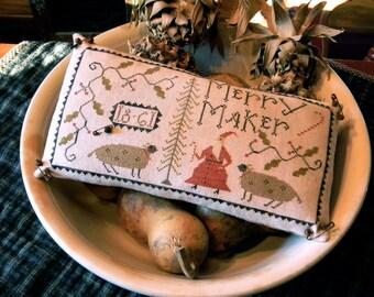 Merry Maker - cross stitch PAPER PATTERN - from Notforgotten Farm™