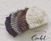 Bun Hat // Ponytail Hat // Gifts for her // Messy Bun Hat // Running Hat // Cream // Taupe // Grey