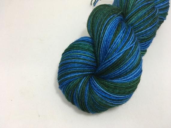 Silver Yarn - M. McGonagall - Ready to Ship - Hand Dyed - Merino Wool Yarn - Sock Yarn - Harry Potter Inspired