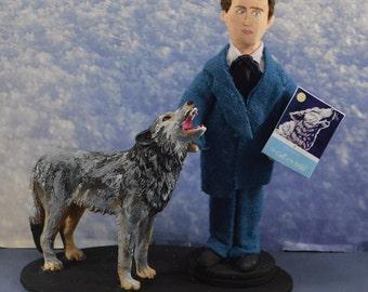 Jack London- Call of the Wild-  Mini Diorama- Classic Literature Author- Wolves Art