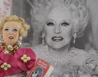Barbara Cartland Romance Novel Writer British Author Art Character Miniature Doll