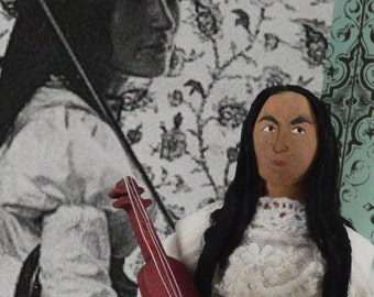 Zitkala Sa Gertrude Simmons Bonnin Native American Miniature Sized Art Doll