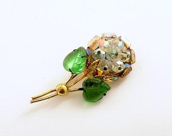 Vintage Flower Brooch Pin Austria
