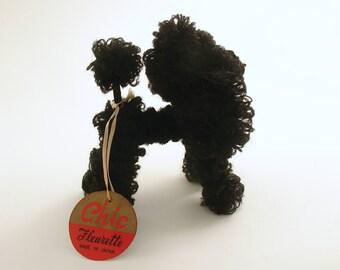 Vintage Miniature Black Poodle Dog