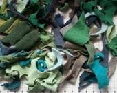 Felted wool scraps, Felt fabric scraps, wool felt fabric, wool sweater scraps, recycled felted wool scraps, sewing project
