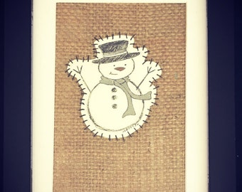5x7 Mixed Media, Assemblage, Frosty