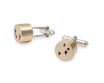 Flock Cufflinks in Brass and Sterling Silver