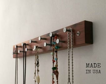 Rustic Recycled Wood Jewelry Rack