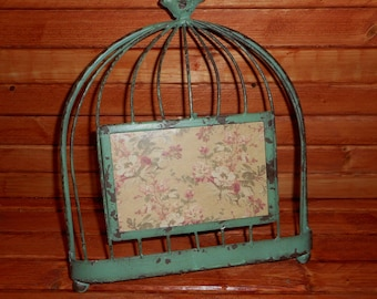 Rustic Style Metal Birdcage Picture Frame...... Old Rusty Metal Style Birdcage,beautiful Picture Frame