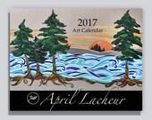 2017 Calendar, wall calendar, art calendar
