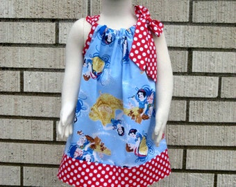 Disney inspired Snow White Pillowcase Dress, Sizes 3M  up to 8 years