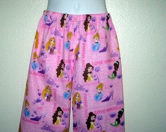 Disney, Pink Princess Childrens Lounge/ Sleep Pants, Belle, Sleeping Beauty Pants