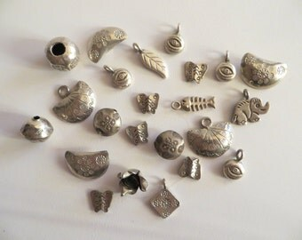 Thai Hill Tribe Silver Charms-Rustic Silver Charms
