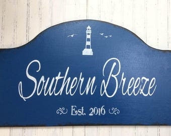Custom personalized beach house sign, lake house sign,  Mother's Day gift, vacation house getaway decor, beach cottage decor