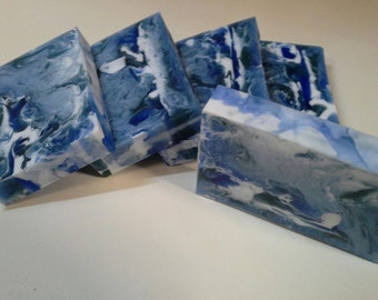 Cool Water for men Soap - Goats Milk and Glycerin swirl bar