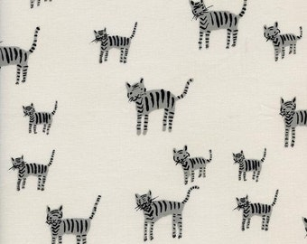 black and white tiger fabric / tiger stripes cotton & steel / quilting fabric / tiger quilt fabric / fabric by the yard / quilting cotton