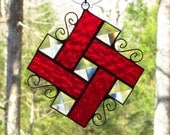Custom Order for Marilyn - 2 Red Pinwheels