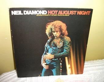 Neil Diamond Hot August Night Double Vinyl Record Album 1972 NEAR MINT