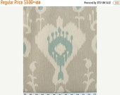 ON SALE NOW Ikat Table Linens - table runners, napkins - Ikat natural with blue and taupe- wedding bridal gift, Mothers Day Gift, Shower rps
