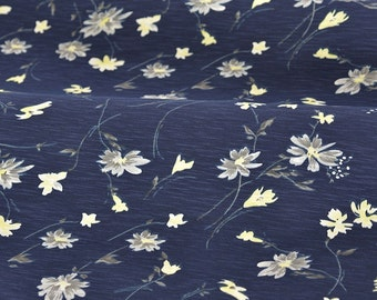 4411 - Chic Floral Cotton Lycra Jersey Knit Fabric - 66 Inch (Width) x 1/2 Yard (Length)