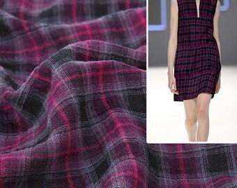 4456 - Gingham Yarn-Dyed Cotton Fabric - 59 Inch (Width) x 1/2 Yard (Length)