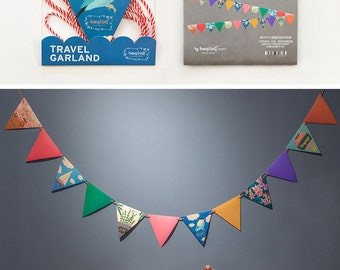 Easy DIY Paper Bunting, Party Flag, Home Decoration - Travel Garland