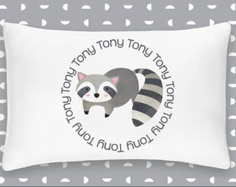 Personalized Racoon Pillowcase Home Decor Bedding Bed Woodland Nursery