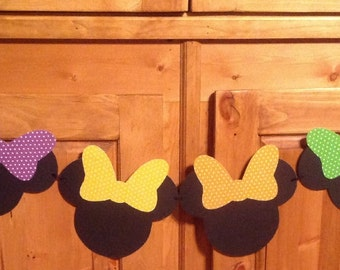 Minnie Mouse Party Bunting Banner