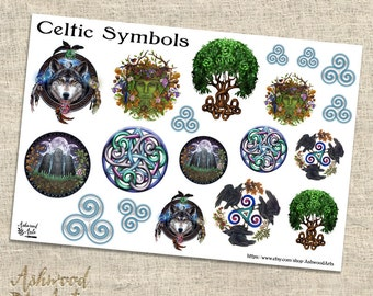 Celtic Symbols Druid Pagan Planner Stickers