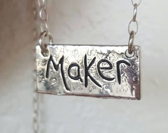 Maker Silver Necklace Sterling Silver Makers Gonna Make Charm