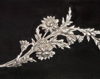 Early Art Deco Large Classic Silver Floral Spray Brooch,Marked Silver,Ca 1910-1920,Ideal Gift for Her,Mothers Day,Spring Summer Jewellery
