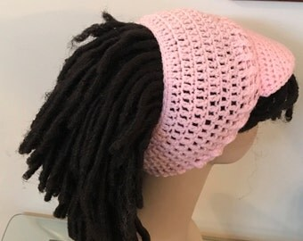Billed Dreadband Hat Light Pink