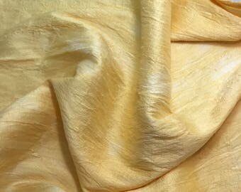 Hand Dyed GOLDENROD Silk DUPIONI Fabric - fat 1/4