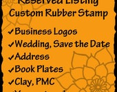 Custom Rubber Stamp - business logos, art stamps, address stamps, wedding stamps- RESERVED for Tanaya