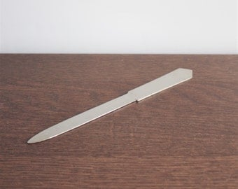 Vintage silver plated letter opener, Italy