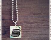 Sale- Scrabble Tile Jewelry - Tweet Bird Typewriter - Scrabble Jewelry Charm - Customize - Choose Your Style