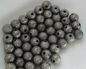 Store CLOSING SALE Gunmetal Stardust Round Loose Beads 6mm Round Qty 54